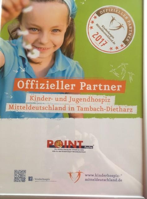 POINT-Fuchs unterstützt auch 2017 das Kinderhospiz Tambach-Dietharz